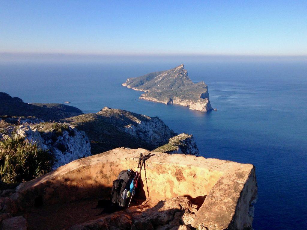 Teufelsbalkon beim Aussichtspunkt Mirador d'en Josep Sastre bei La Trapa
