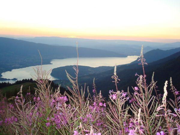 Blick auf den Lac d'Annecy bei unserer Abendwanderung beim La Tournette