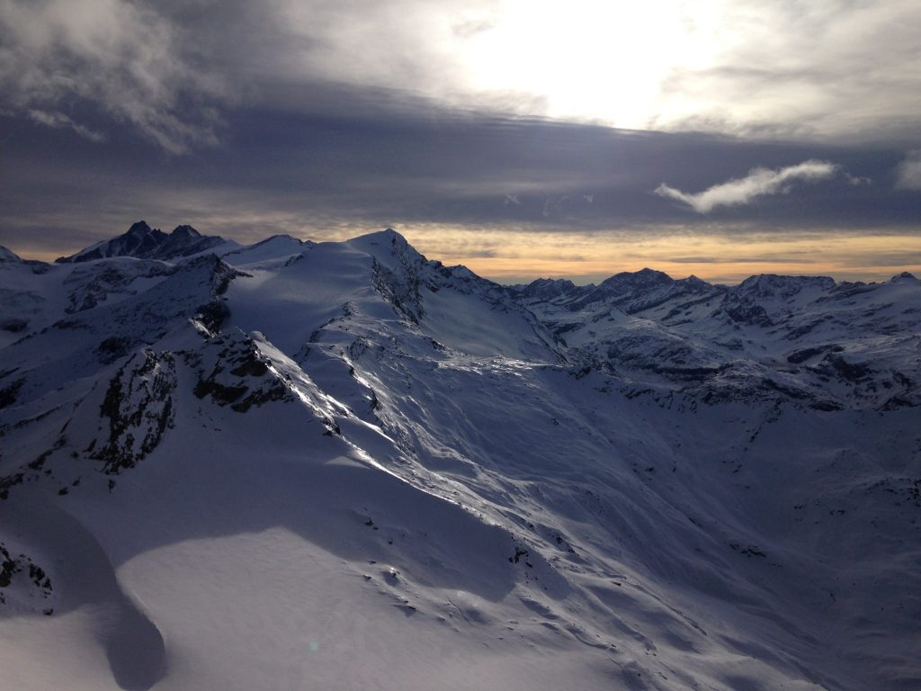 Ausblick Richtung Groß Glockner bei Gipfelwelt 3000 am Kitzsteinhorn