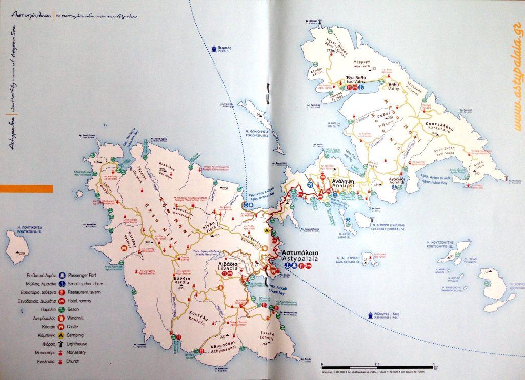 Astypalea: Übersichtskarte